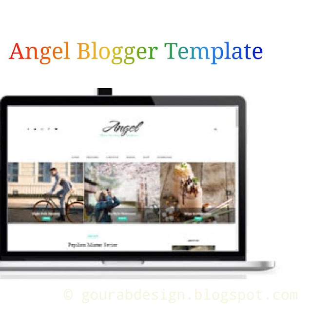 angel blogger template image