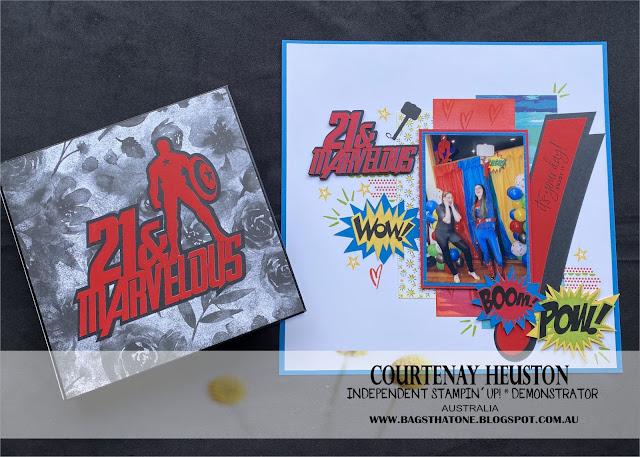 Marvel Scrapbook page and Album