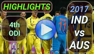 india-vs-australia-4th-odi-2017-highlights