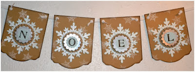 Snowflake, Christmas Banner, Festive Flurry, Stamp with Trude, Stampin' Up!