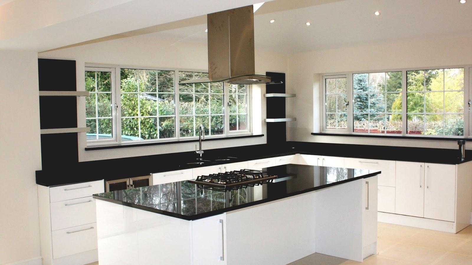 chic marble kitchen worktops
