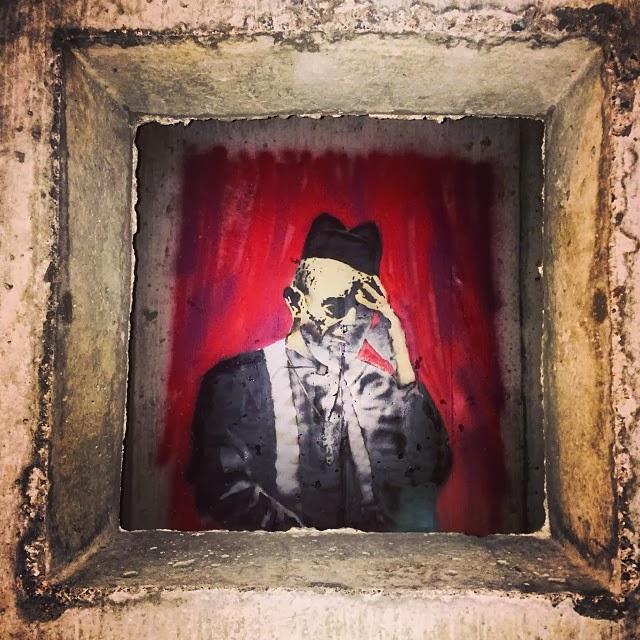 MELROSEandFAIRFAX: The Hidden Face In Banksy's Concrete
