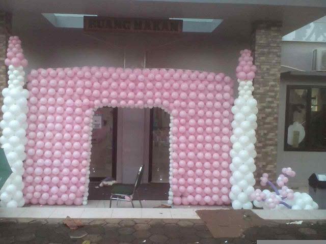 Dekorasi full balon gate pintu masuk