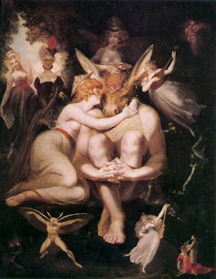 Henry Fuseli - Titania Awakes Surrounded by Attendant Faries 1794