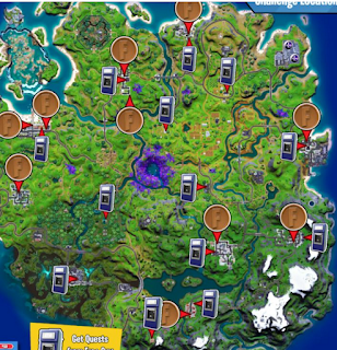Where Fortnite Coin Locations ||  Place Coins Around the Map All Map Locations in Season 7