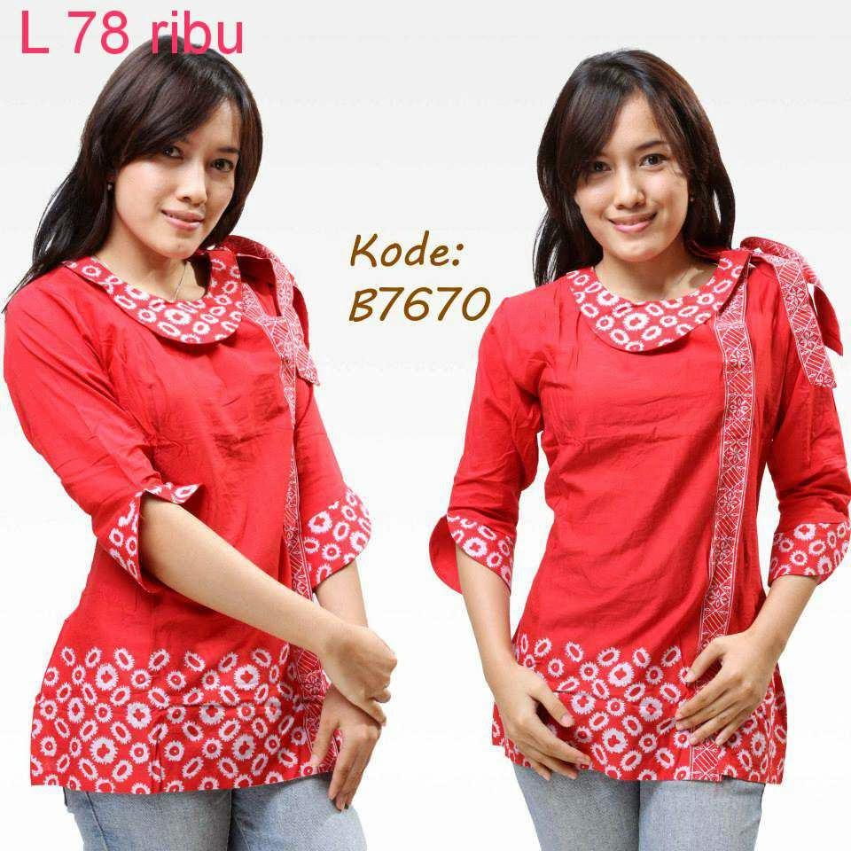 Model Baju Batik Semi Formal: Foto Model Baju Batik