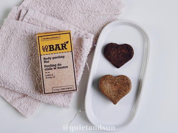 LoveBar, Body Peeling Bar Coffee & Orange Oil - peeling do ciała w kostce