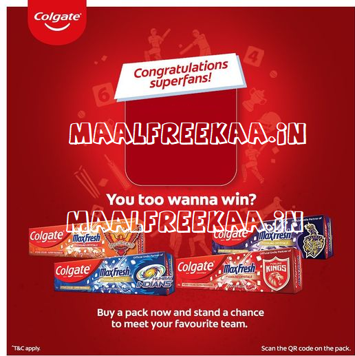 Meet IPL Team Scan And Win Play Contest By Colgate.