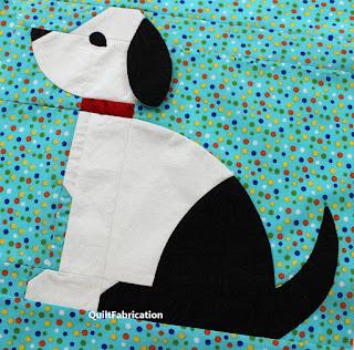 DOG QUILT BLOCK-PUPPY QUILT BLOCK