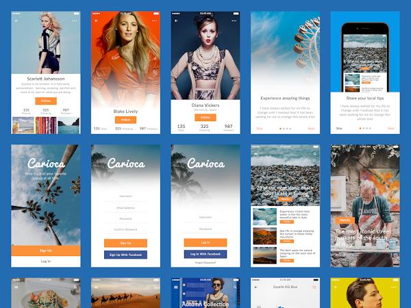 Download Carioca Sketch UI Kit Free