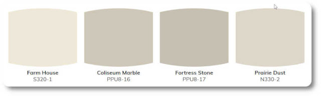 Paint color samples from Behr