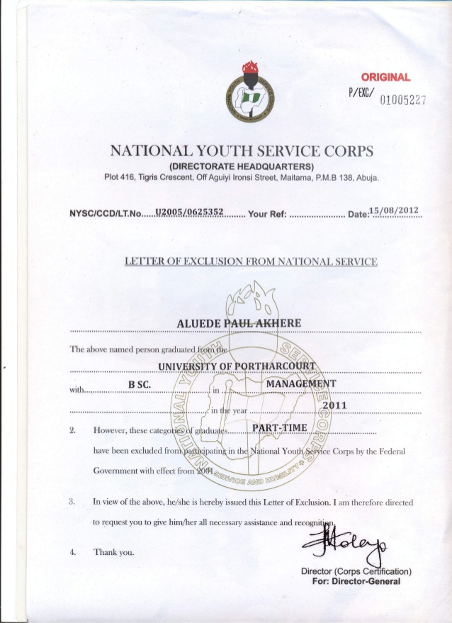 Procedures and Requirements for Collection/Replacement Of National ...