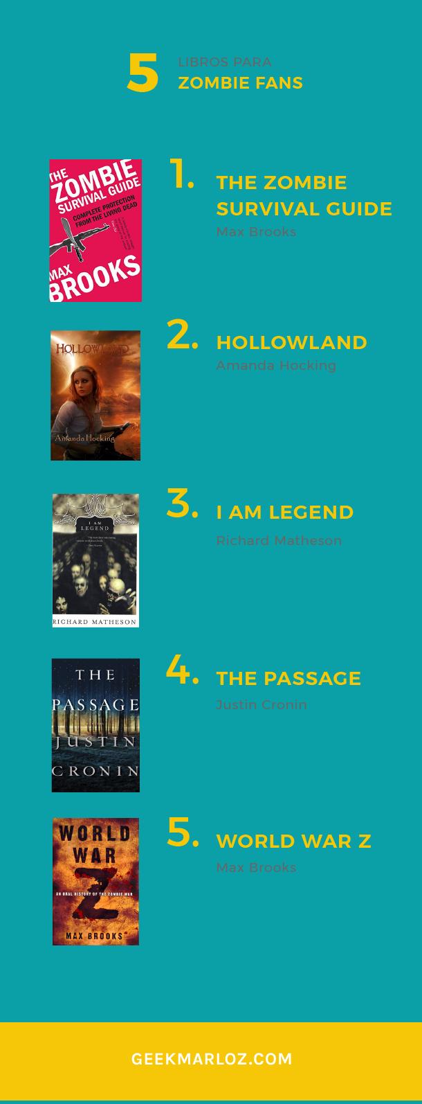 Top 5: libros para zombie fans
