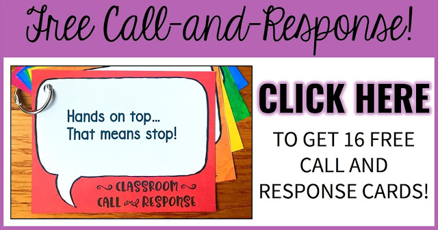16 Free Call-and-Response Cards.