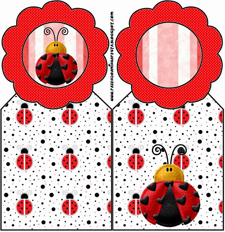 Free Printable Book Marks of Ladybugs.