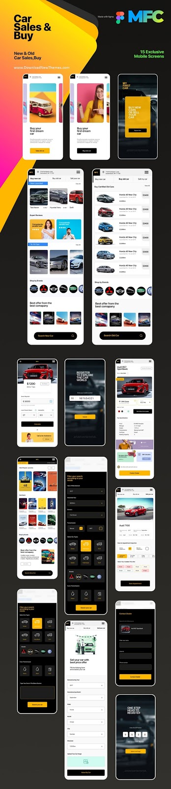 Car Sales and Buy Mobile App Template