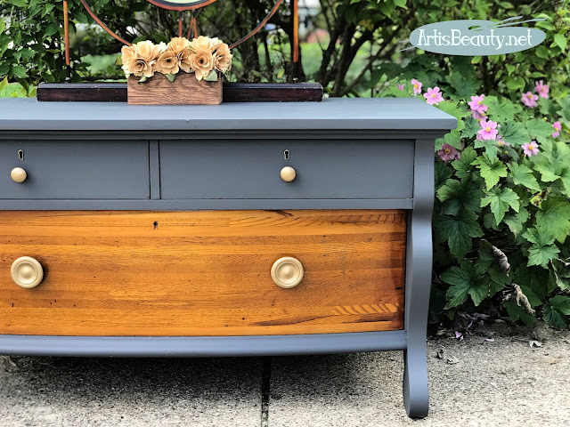 general finishes queenstown gray empire style buffet painted makeover karin chudy