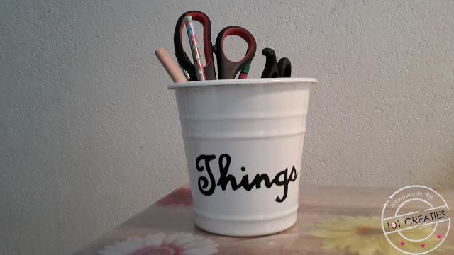 Hack van plantenpot naar pennenbak