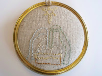 canning ring embroidery ornament