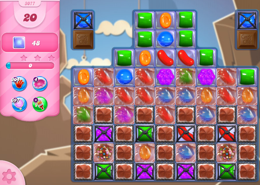 Candy Crush Saga level 3077