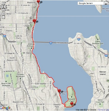 Views from two wheels: Ghost of Seattle Marathon