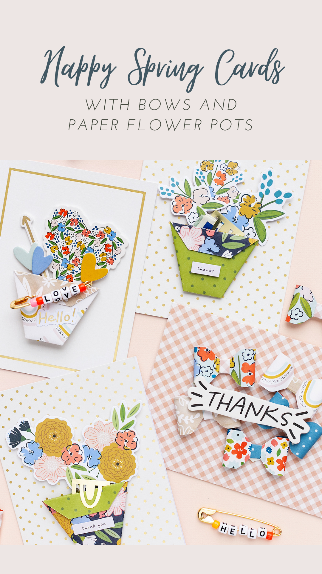 Happy Spring Cards with the papercrafting collection Reaching Out by Jen Hadfield