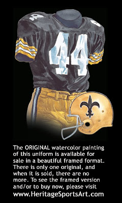 New Orleans Saints 1971 uniform