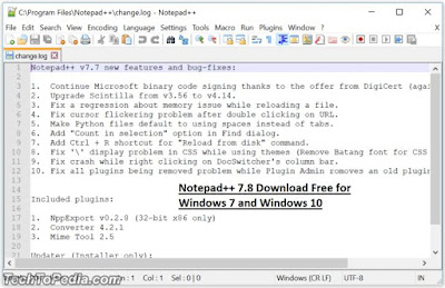 Notepad++ 7.8 Download Free for Windows 7 and Windows 10