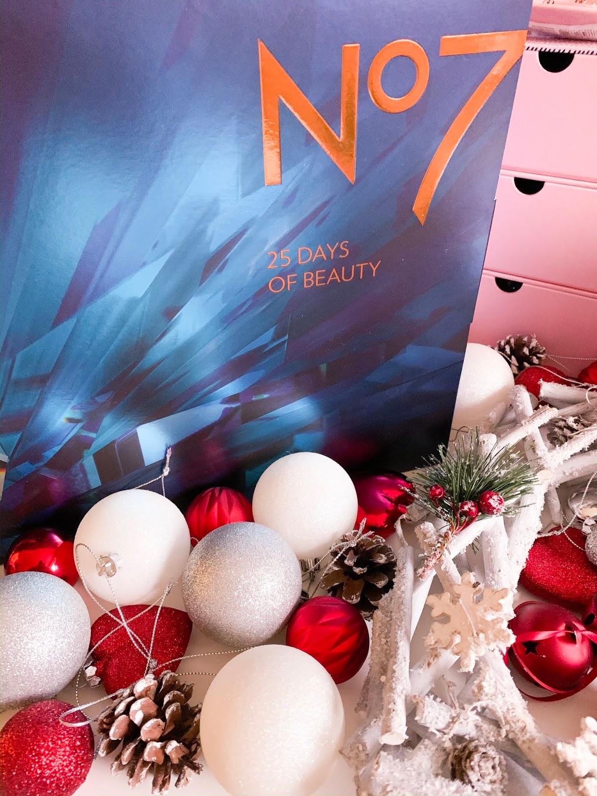 No7 Advent Calendar Unboxing Flatlay