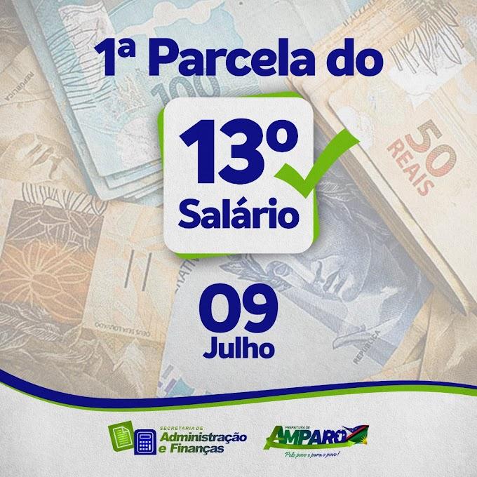 Prefeitura de Amparo paga primeira parcela do 13° salário do funcionalismo público