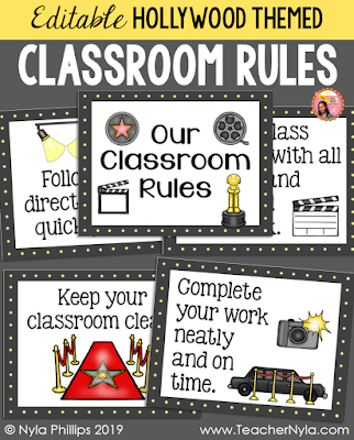 Nyla's Crafty Teaching: Editable Classroom Rule Posters in
