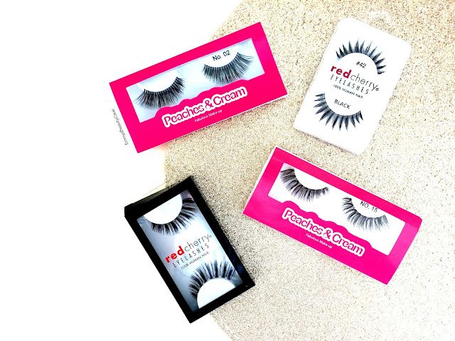 Red Cherry False Lashes, Peaches and Cream False Lashes