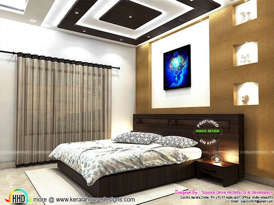 Interior design Kerala - Master bedroom