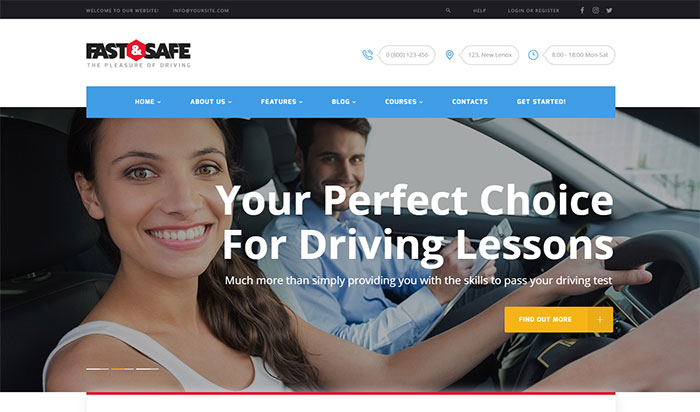 Fast&Safe - Driving School WordPress Theme