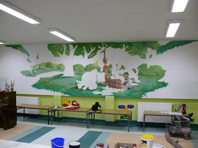 Zdobienie ściany w pokoju dziecięcego, aranzacja ściany, Warszawa