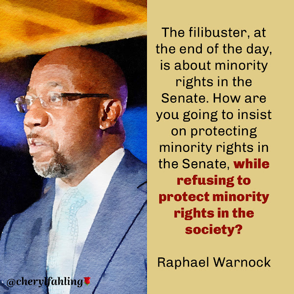 The filibuster, at the end of the day, is about minority rights in the Senate. How are you going to insist on protecting minority rights in the Senate, while refusing to protect minority rights in the society? — Democratic Sen. Raphael Warnock of Georgia