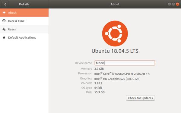 Ubuntu 18.04.5 LTS