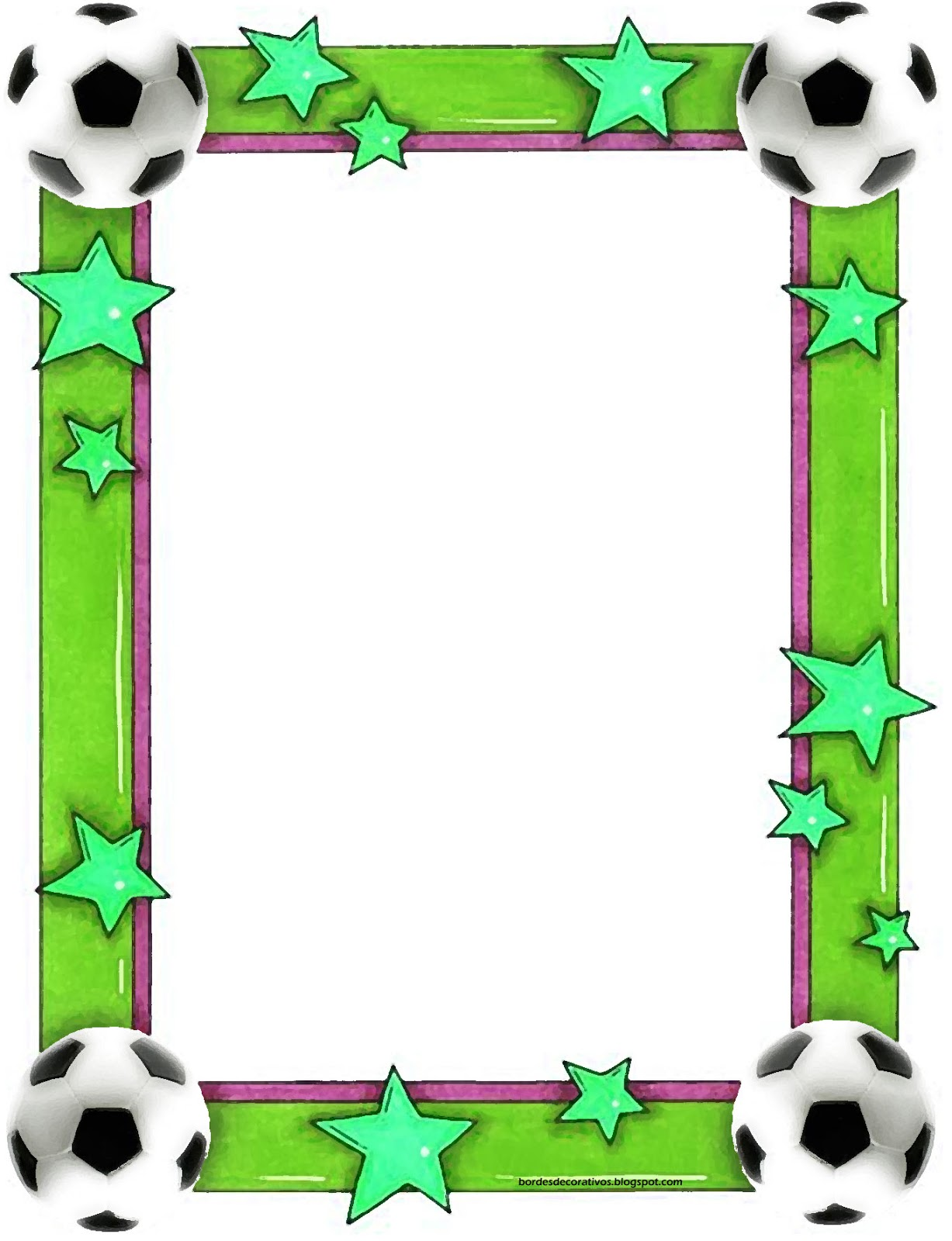 Bordes decorativos bordes decorativos de hojas de f tbol for Bordes creativos