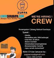 Info Loker Surabaya di Zuppa Snack, Drinks & Share Agustus 2020
