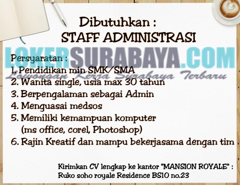 Loker Surabaya Terbaru Di Mansion Royale Juni 2019 Lowongan Kerja Surabaya Januari 2021 Lowongan Kerja Jawa Timur Terbaru