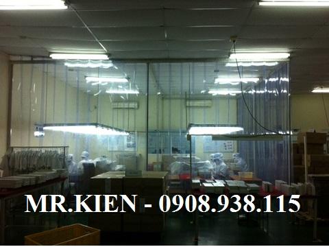 Mành nhựa ngăn lạnh Nhà máy in ấn Crestec Việt Nam