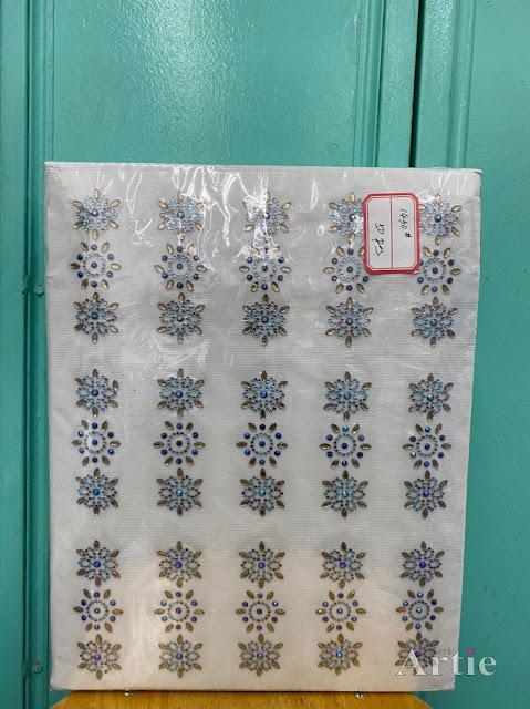 Hotfix stickers dmc rhinestone aplikasi tudung bawal fabrik pakaian bunga hexagon 3 bentuk