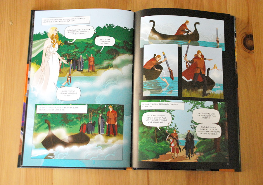 Comic Usborne - les aventures du roi Arthur