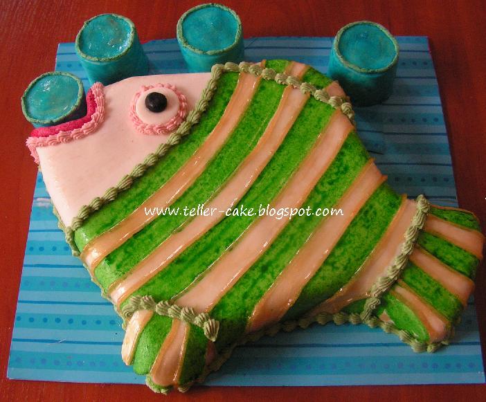 hal alakú torta képek teller cake: Hal formájú torta buborékokkal hal alakú torta képek