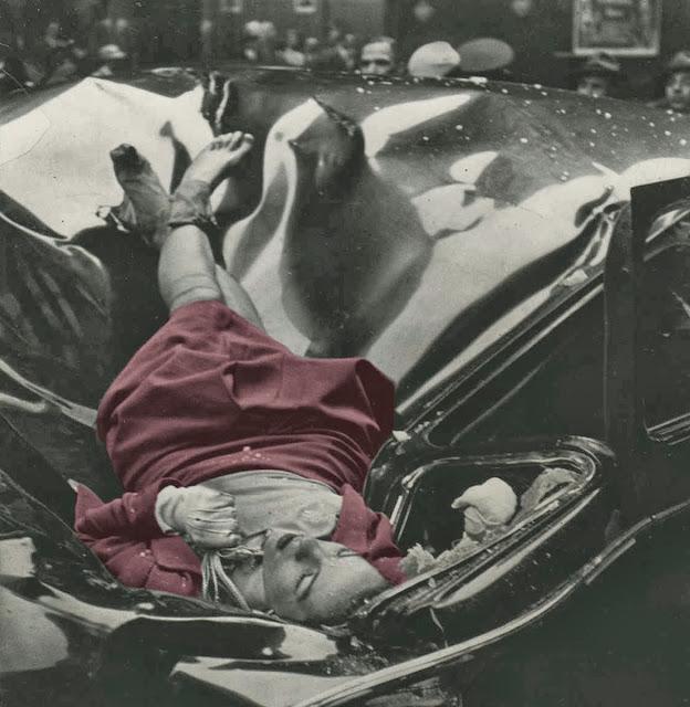 Evelyn McHale'in intiharından dört dakika sonra, Genç ve acemi bir fotoğrafçı olan Robert Wiles, genç kadının araba üzerinde ki uysal, dingin ve huzurlu cesedini ölümsüzleştiriyor.