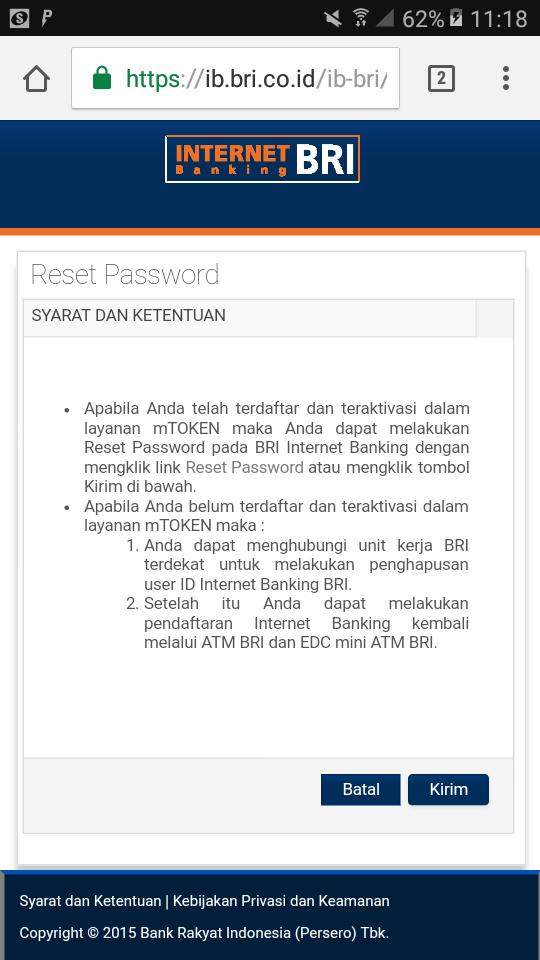 Lupa Password https://ib.bri.co.id/ib-bri/id/forget-password.html