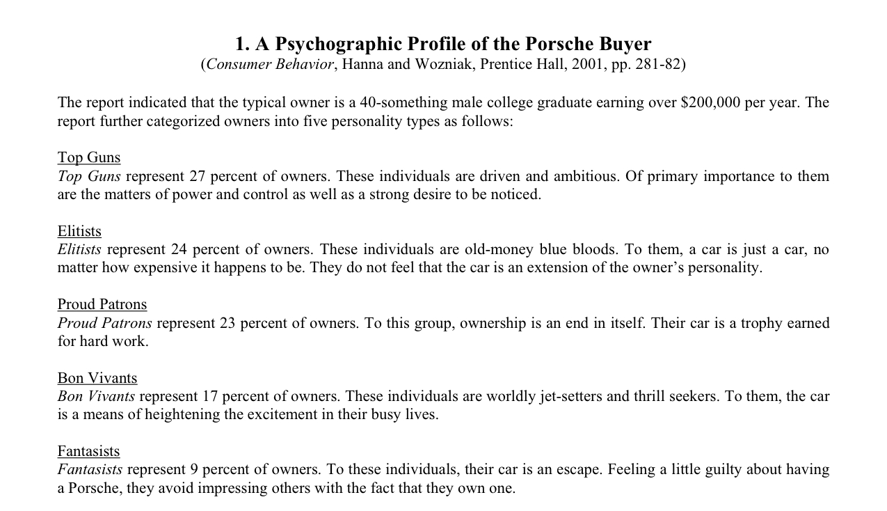 Which Porsche personality type are you?! - Page 3 - Rennlist