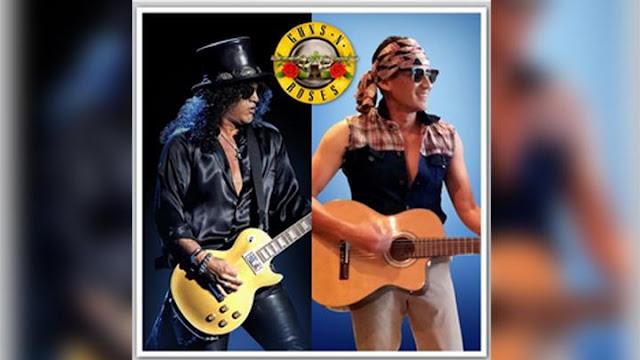 Tak Bisa Nonton Guns N' Roses, Sandiaga Unggah Foto Mirip Slash