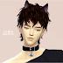 male_cat bell choker_남성용 고양이 방울 초커_남성 목걸이