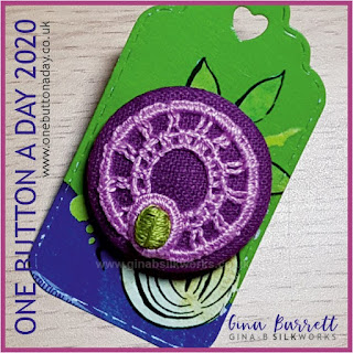 One Button a Day 2020 by Gina Barrett - Day 90: Scarab